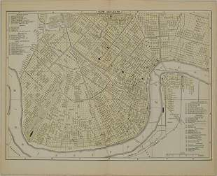 1892 Johnson Map of New Orleans -- New Orleans