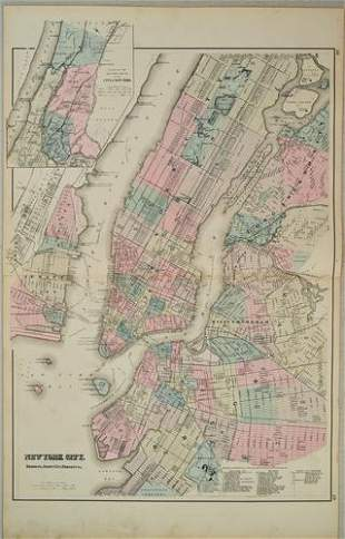 1880 Gray Map of New York City -- New York City,