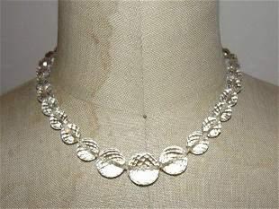 Art Deco Sterling Silver, Pure Rock Crystal Quartz Bead