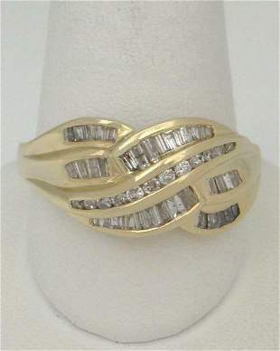 LADIES 14K YELLOW GOLD HIGH POLISH 1/2ct DIAMOND