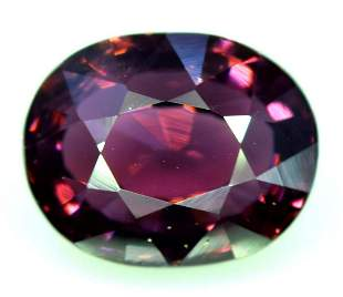 Red Spinel Oval Cut Gemstone Flawless Top Quality No