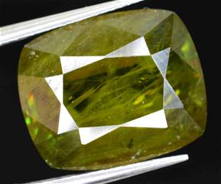 6.5 CARATS BEAUTIFUL GREEN SPHENE 12X10X5 MM