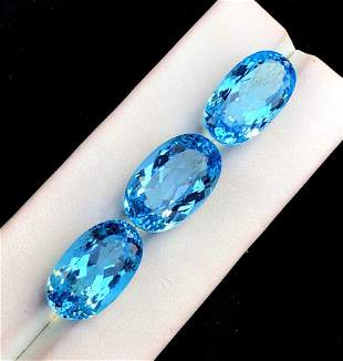 Topaz Gemstones , Natural Blue Topaz , Swiss Topaz