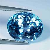 11.25 Ct Natural Oval Cut Top Quality Blue Topaz