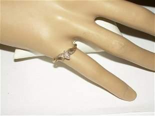 10k Diamond Engagement Ring, Size 6, .9gr