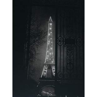 BRASSAI - Eiffel Tower at night