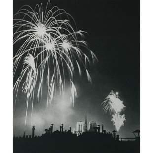 BRASSAI - Fireworks over Notre Dame