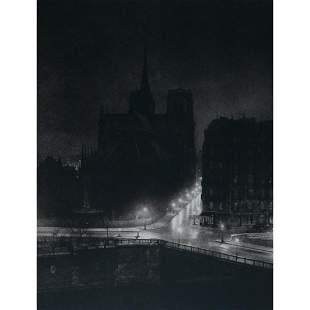 BRASSAI - Notre Dame at night