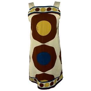 Vintage Bally Silk Ivory Sleeveless Mini Dress Size 6
