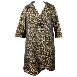 Erika Cavallini Semi- Couture Animal Print Coat