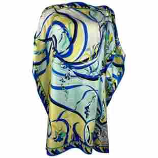 Vintage ENILIO PUCCI Multicolor Silk Cover Up Top