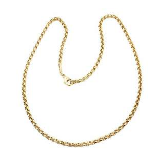 Authentic! Chopard 18k Yellow Gold Rolo Link Chain
