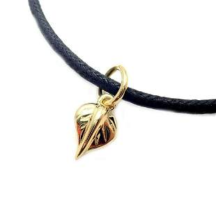 Temple St Clair 18k Tanooki Nature Leaf Charm Cord
