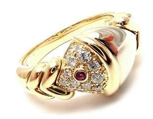 Authentic Bulgari Bvlgari 18k Yellow White Gold Diamond