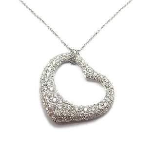 Authentic! Tiffany & Co Peretti Platinum 3ct Diamond