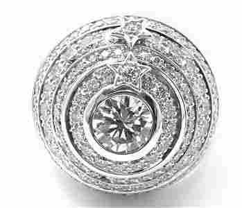 Authentic! Chanel Comete Star 18k White Gold Diamond