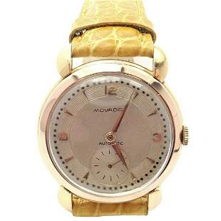Movado 18k Yellow Gold Automatic Bumper Yellow