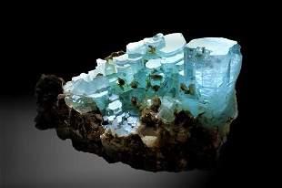 Aquamarine With Fluorite - Collection Piece - 1221