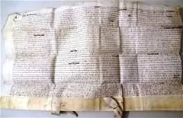 1614 English Vellim Indenture London Aldersgate
