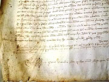 1383 Large Medieval Manuscript from Spain