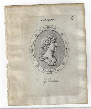 1694 Fine Engraved Leaf Roman Commodus