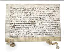 1338 Medieval Legal manuscript on Vellum