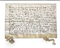 1338 Medieval Legal manuscript on Vellum