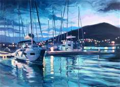 Oil painting Dawning sea Procach Olesia