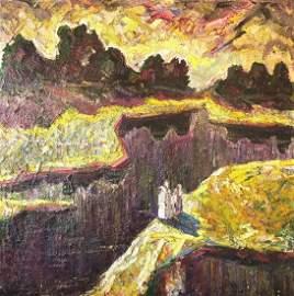 Oil painting Govtva river Mazur Vladimir