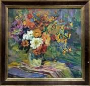 Oil painting Flowers Sokolova Zinaida Ivanovna