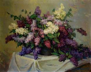 Oil painting Lilac Safonov A. A.