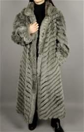 Reversible Grey Fox Fur Coat
