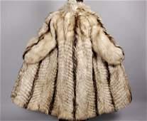 Heavy Long Beige Fox Fur Coat 4kg+