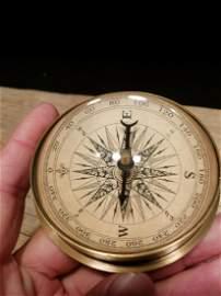 Brass Magnifying Glass Navigational Compass