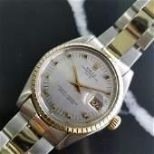 Mens Rolex Oyster Date Ref.1505 35mm 14k Gold & SS