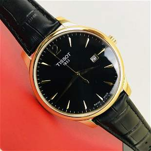 TISSOT Tradition Men's Gold Plated Dress Watch