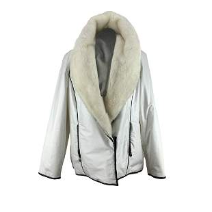 De Carlis Roma White Waterproof Padded Jacket with