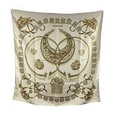 Hermes Vintage Silk Scarf Les Cavaliers D'Or 1975