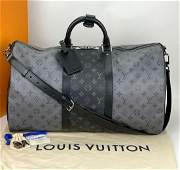 Louis Vuitton KEEPALL BANDOULIÈRE 50 Gray Monogram