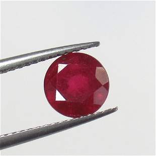 2.06 Ct Natural Mozambique Red Ruby Round Cut