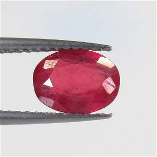 1.70 Ct Natural Mozambique Red Ruby Oval Cut