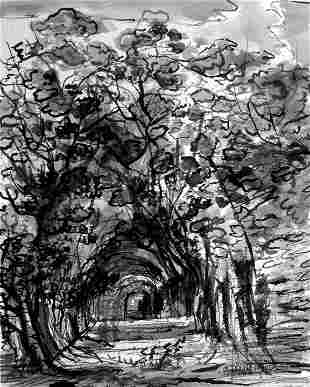 Canopy; Photolithograph After Watercolor Original