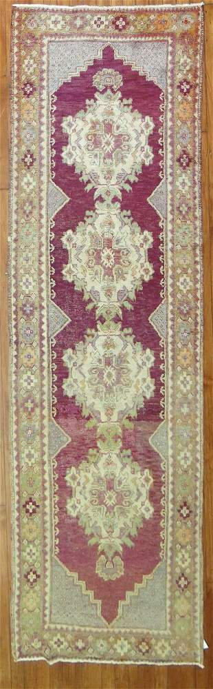 Purple Vintage Turkish Runner