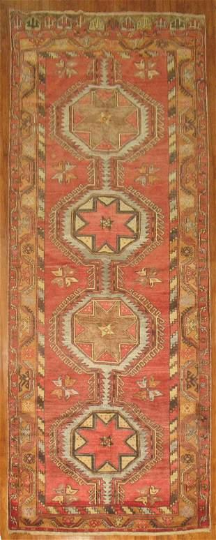 Vintage Turkish Konya Gallery Rug