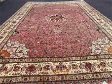 Vintage LargePersian Silk and wool Tabriz size rug-4717