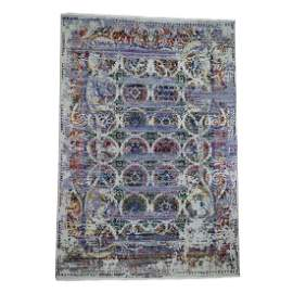 ERASED ROSSETS, Colorful Sari Silk With Oxidized Wool