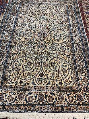 Hand Knotted Persian Nain 9x6 ft