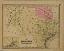 1869 McNally Map of Texas, Indian Territory and New