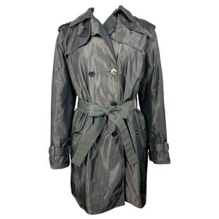 Dolce & Gabbana Grey Trench Rain Mini Coat Size 42