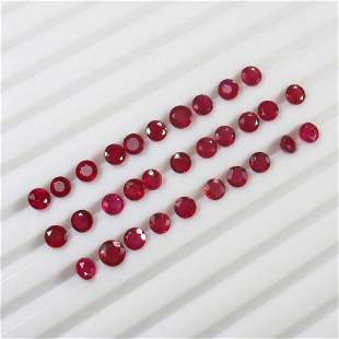 11.95 Ct Natural 31 Mozambique Red Ruby Jewellery Set